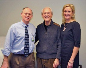 L-R: Dr. James Essell, Charles Spencer, Mary Hanley