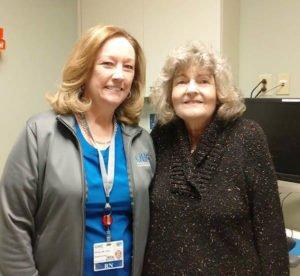 Nancy Price and Shirley Smith